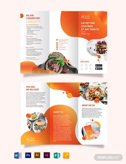 mobile app tri fold brochure template