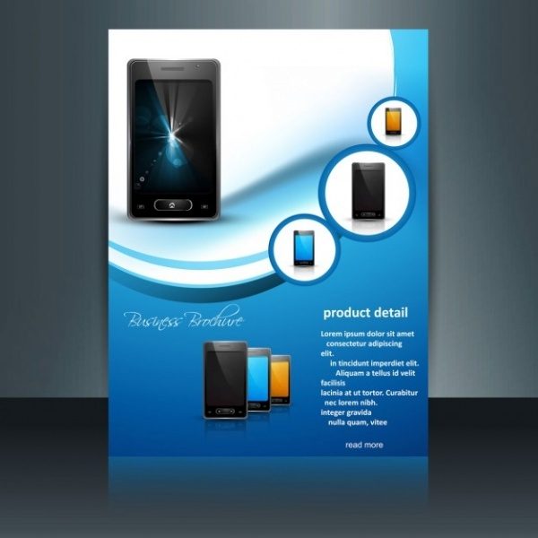 Mobile Phone Promotional Brochure Vector