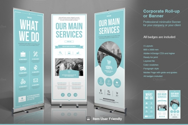 modern business corporate roll up banner