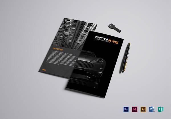 Modern Car Brochure Template in Word Format