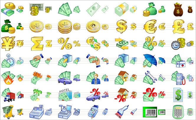 Money Icons Set For You