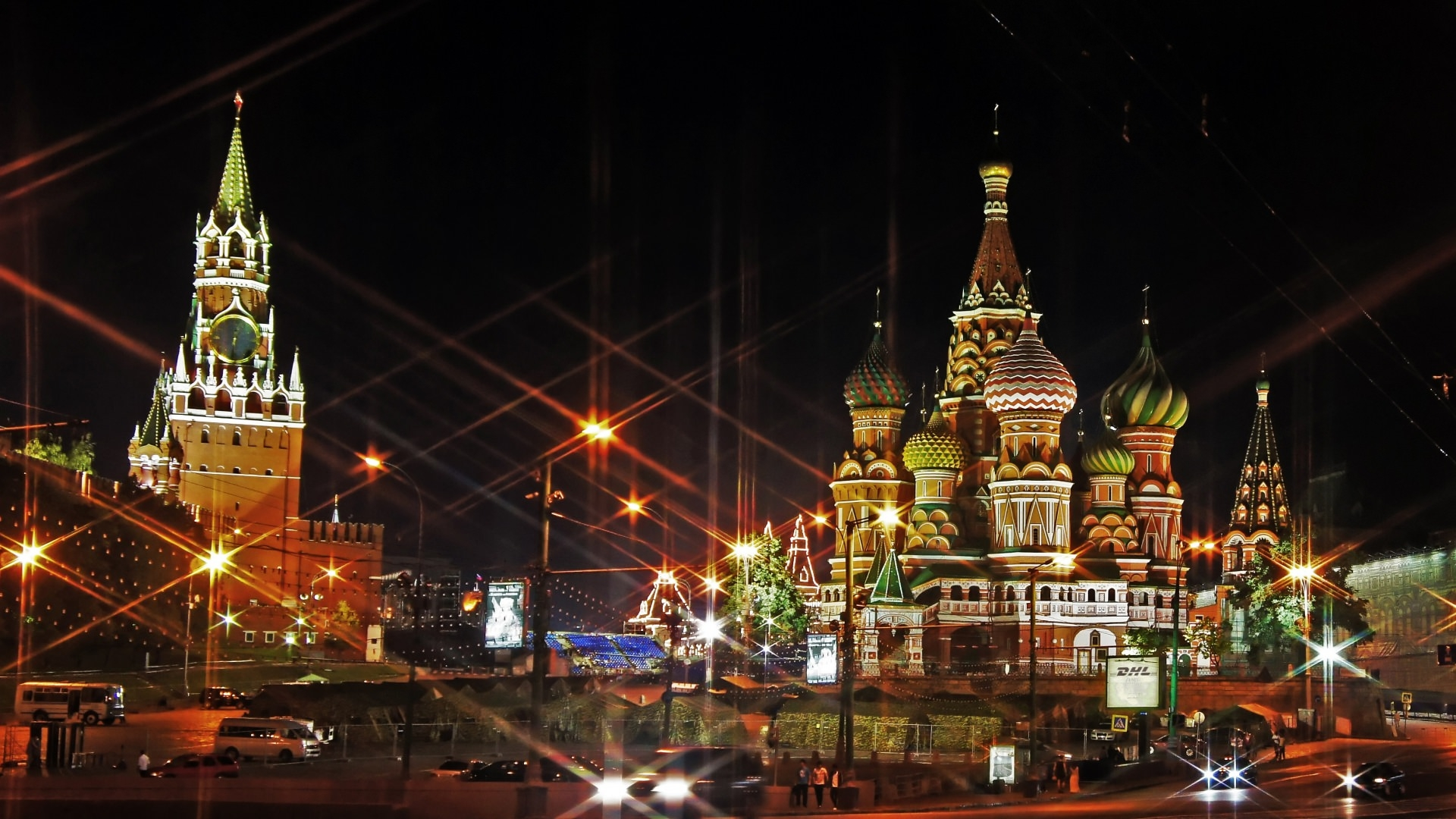 Moscow Red Square Lights Wallpaper