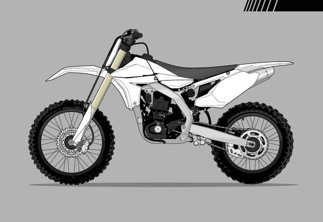 Motocross Bike Vector Graphics