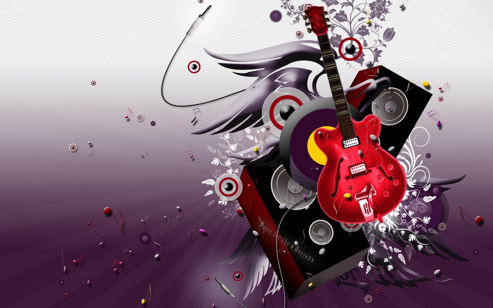 Music 3D Abstract Desktop Wallpaper