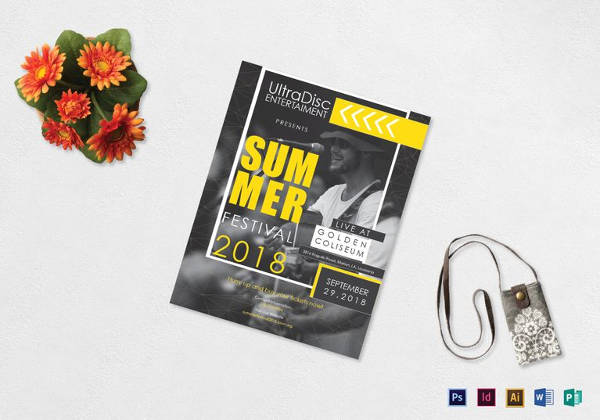 Music Festival Flyer Indesign Template