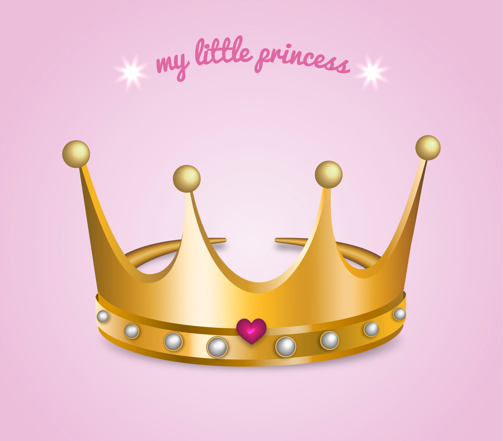 My Little Princess Crown Vector Design