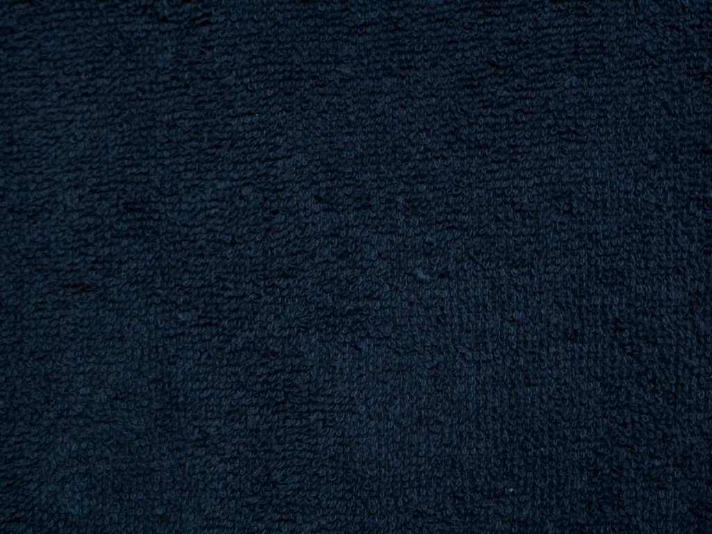 Navy Blue Towel Texture Background