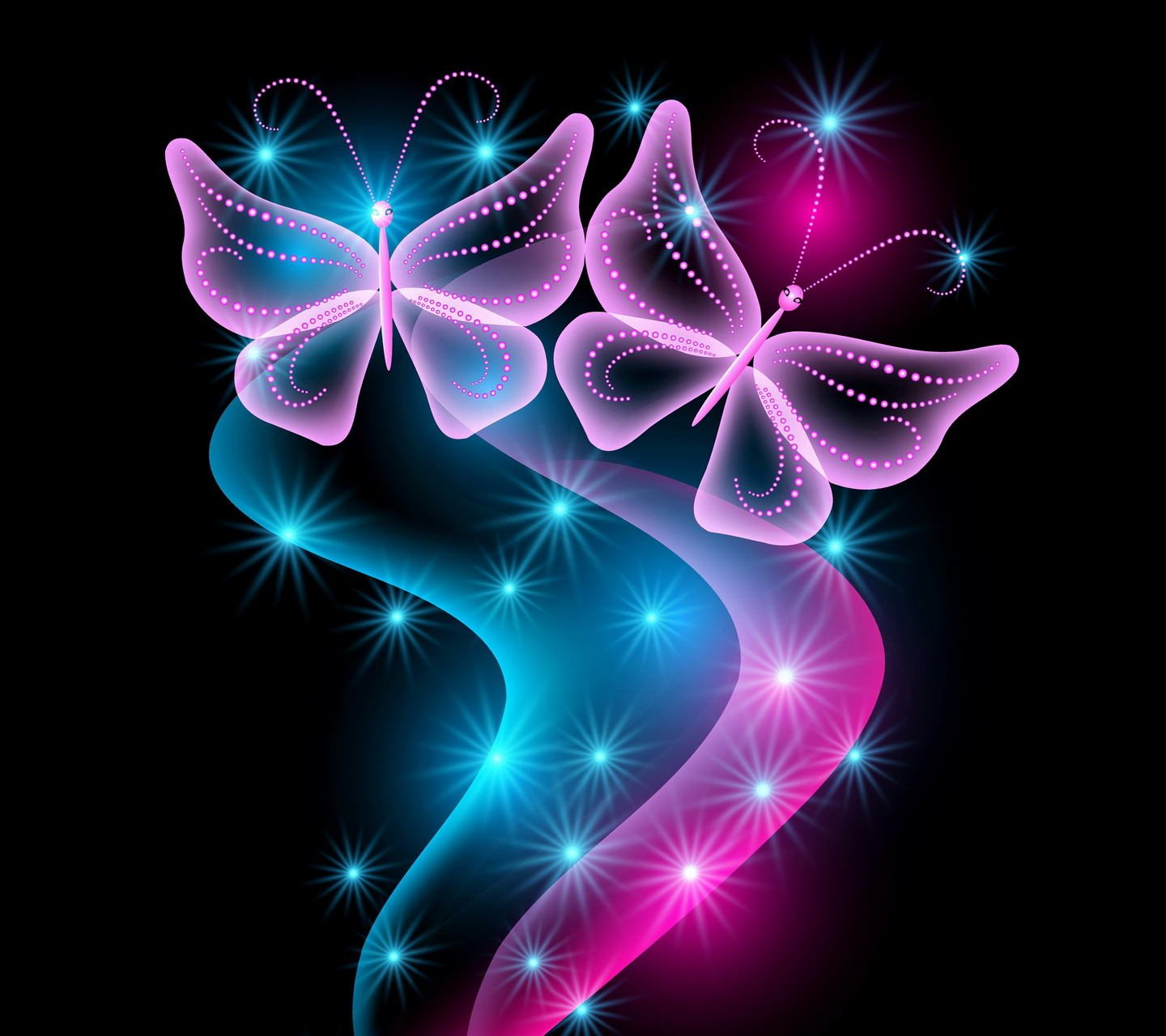 Neon Butterfly Wallpaper