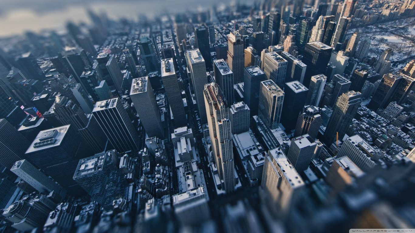 New York City Tilt-Shift Wallpaper