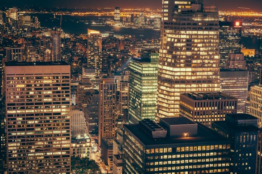Night Skyline Building Lights Wallpaper