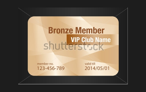 Official Bronze Membership Card