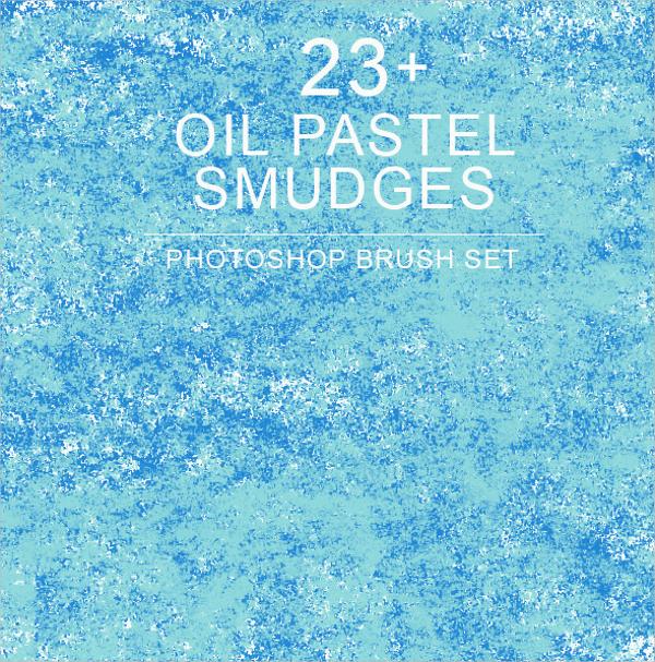 Oil Pastel Smudges PS Brush