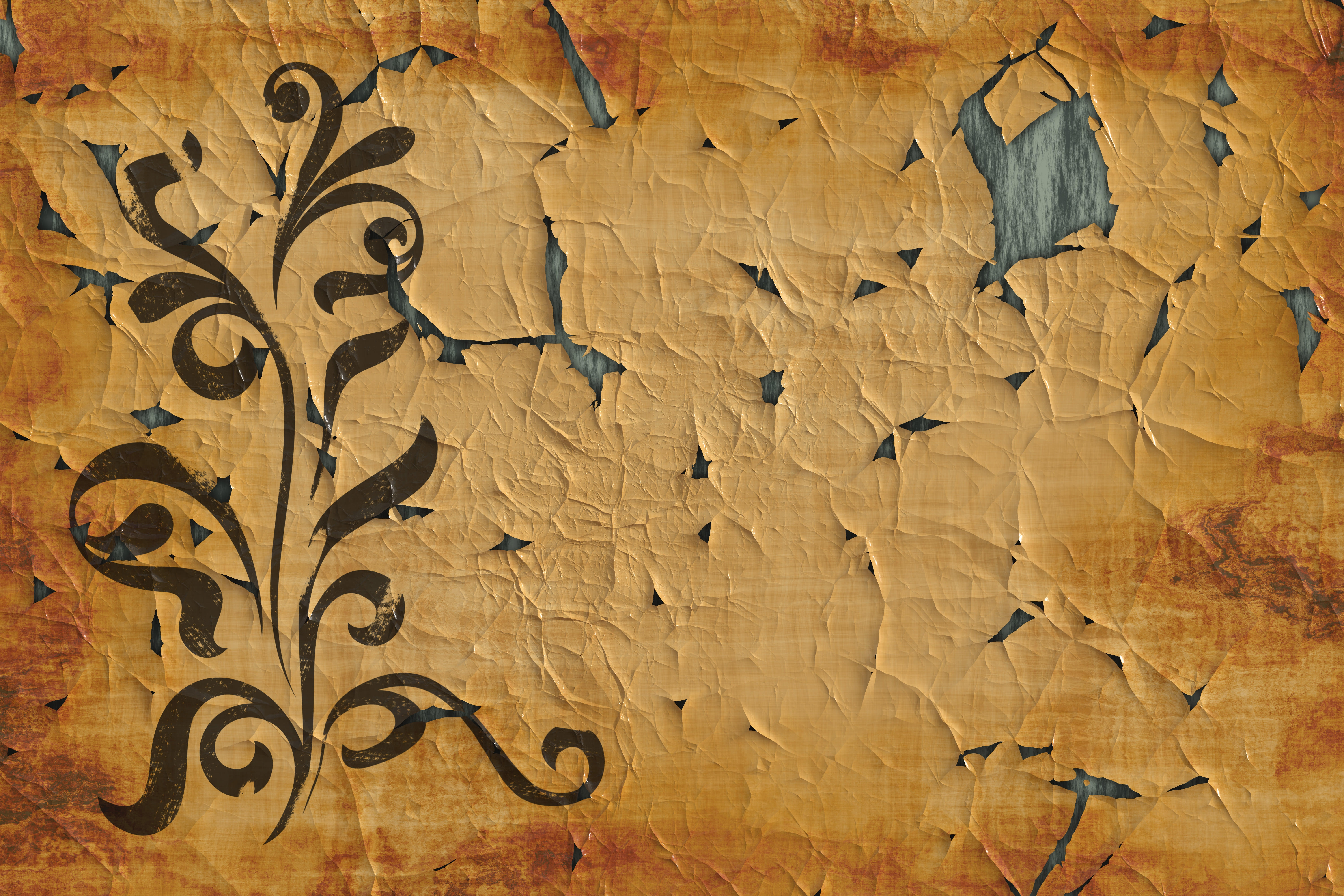 Old Paper Floral Texture