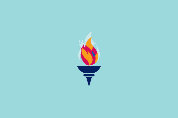 Olympic Torch Logo Design