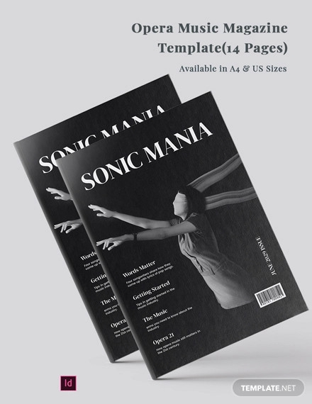 opera music magazine template