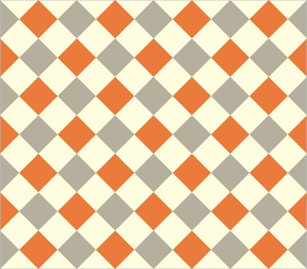 Orange & Beige Checkerboard Pattern