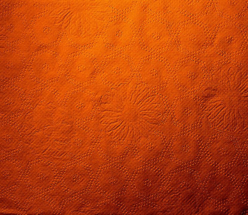 Orange Floral Tisue Paper Texture