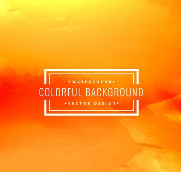 orange watercolor background 2