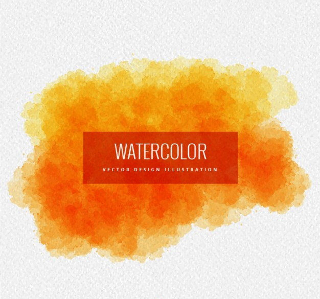 Orange Watercolor Background for Graphic artwork
