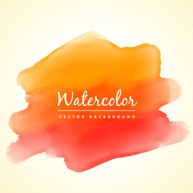 Orange Watercolor Background with Splashes