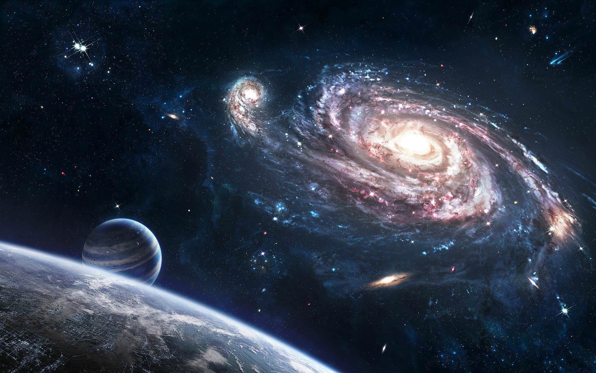 Outer Space Galaxy Background
