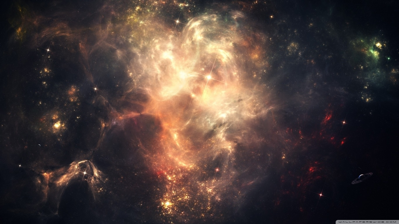 Outer Space Nebulae Background