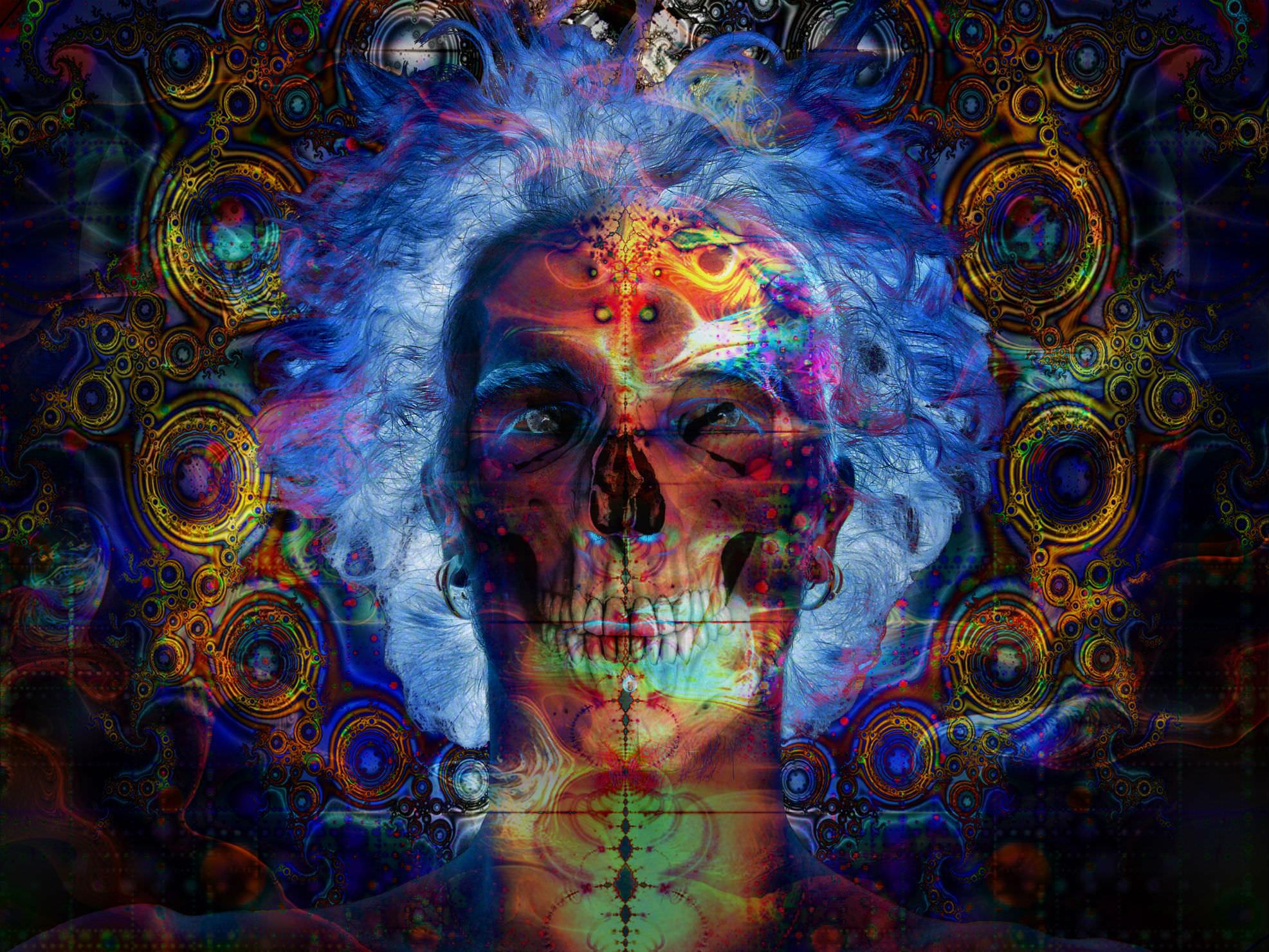 Outstanding Skull Trippy Wallpaper