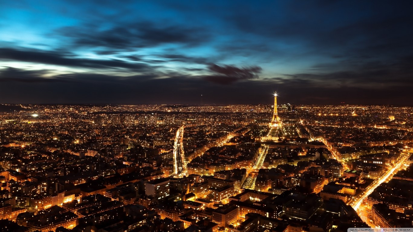 Paris City Lights Background