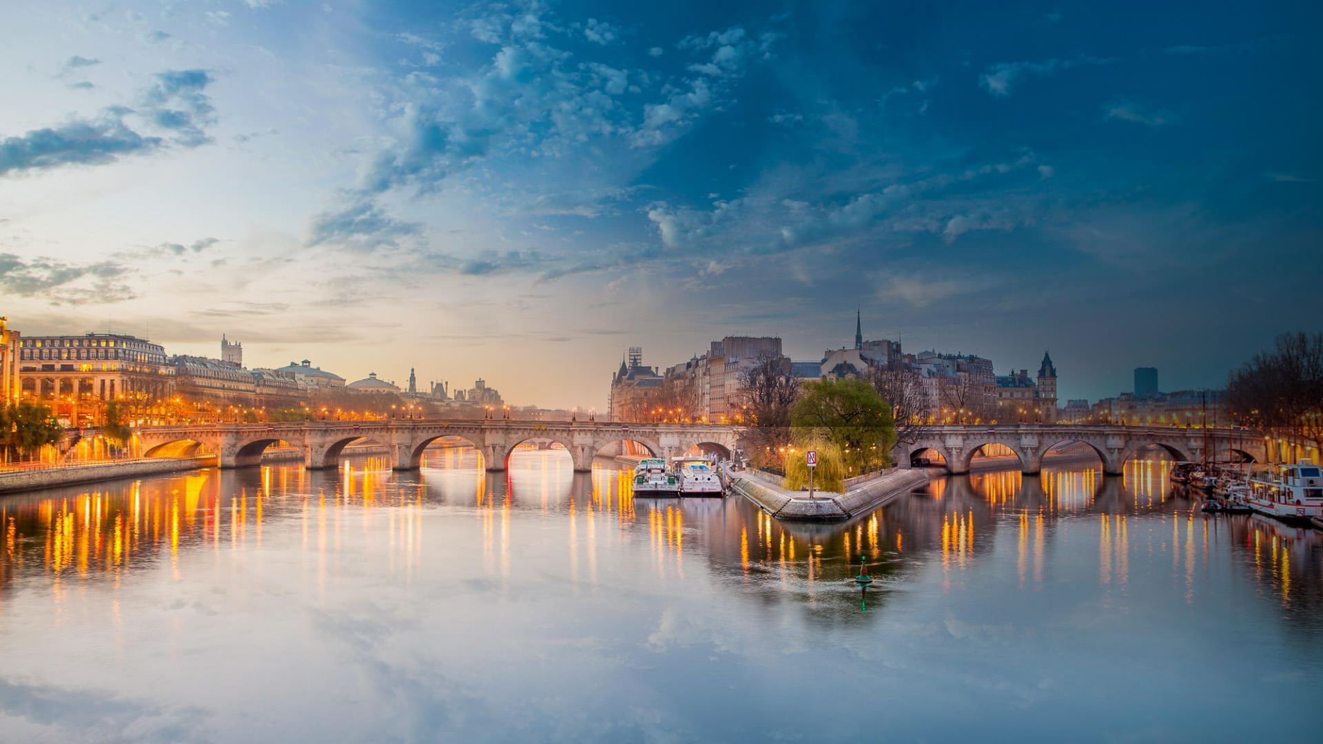 Paris Seine River Background