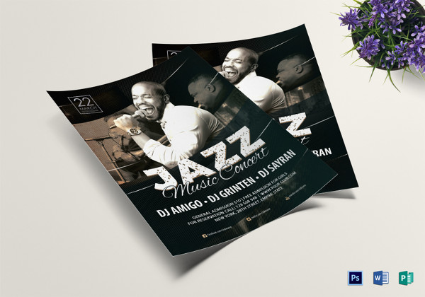 Passionate Jazz Music Concert Flyer Template