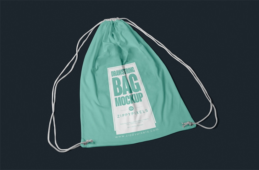 Free Drawstring Backpack Bag Mockup | FreeCreatives