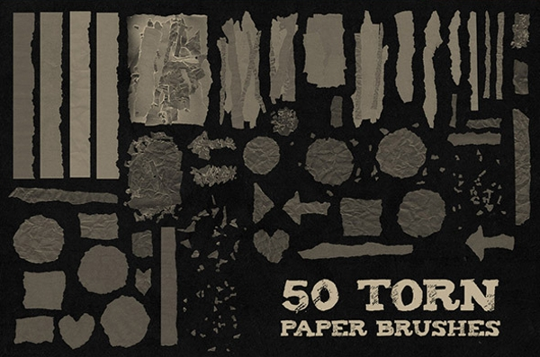 photoshop torn brush set
