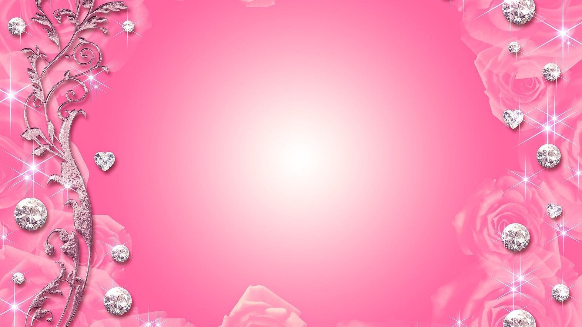 Pink Background with Glitters