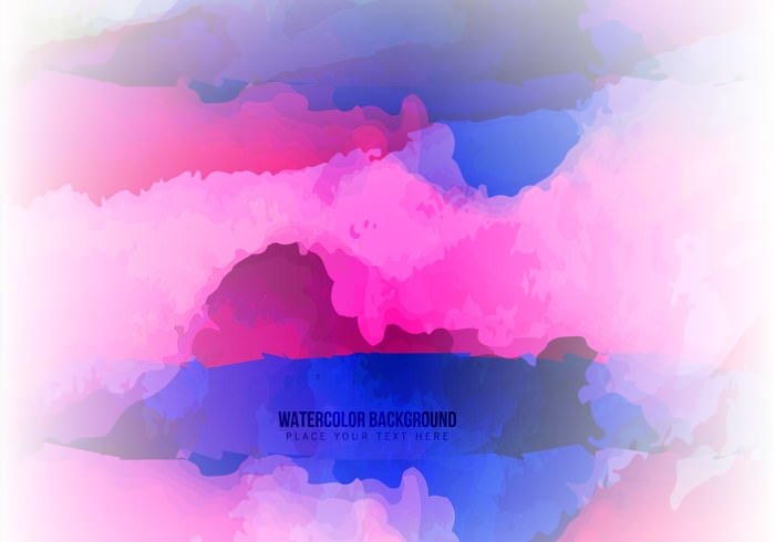Pink and Blue Abstract Watercolor Stains Background