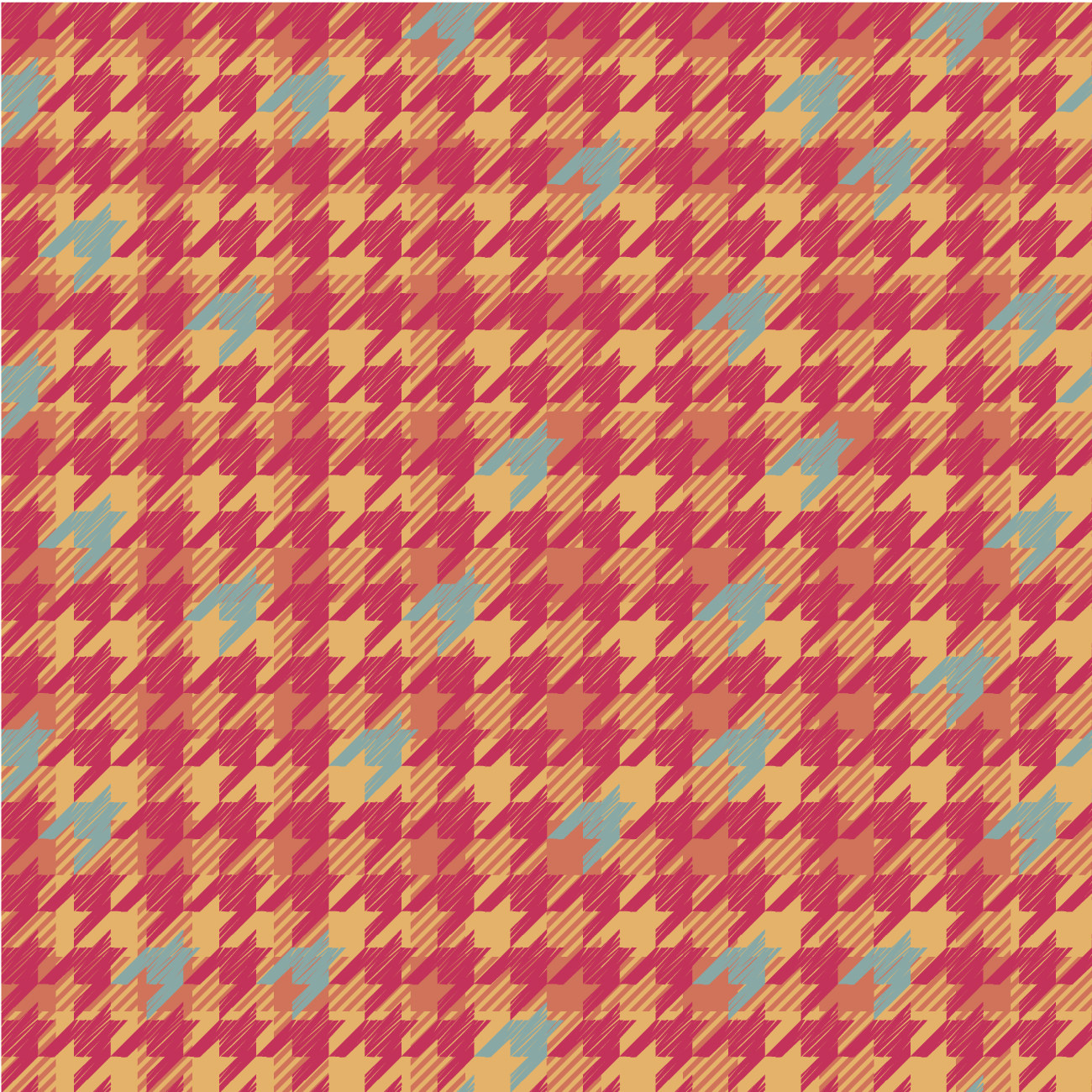 Plaid Houndstooth Pattern