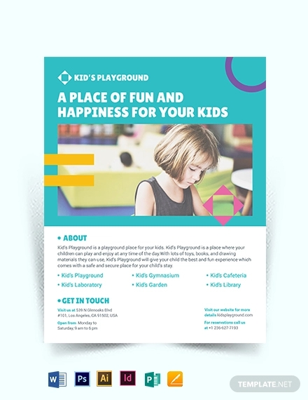 play school flyer template