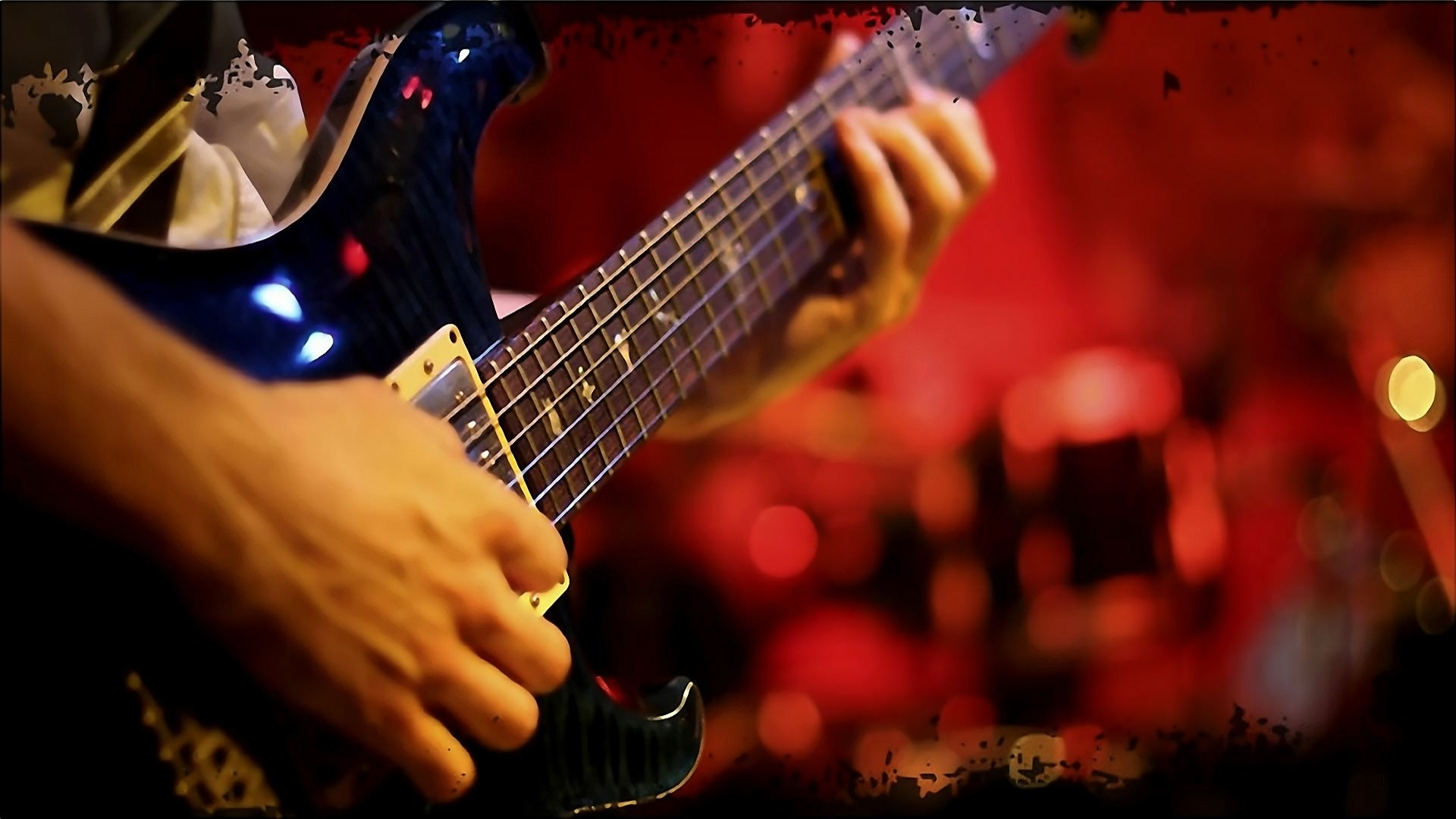 Playing Guitar Music Wallpaper