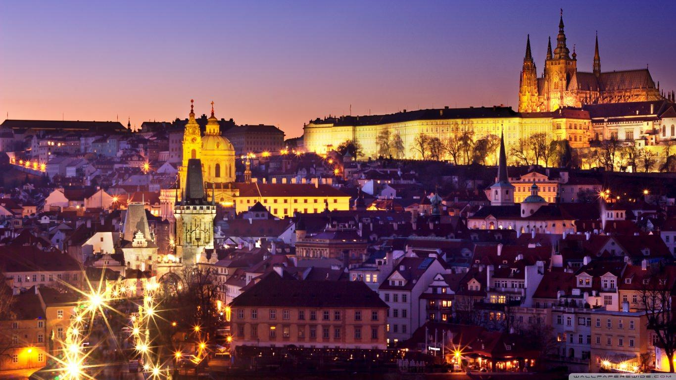 Prague City Lights Wallpaper