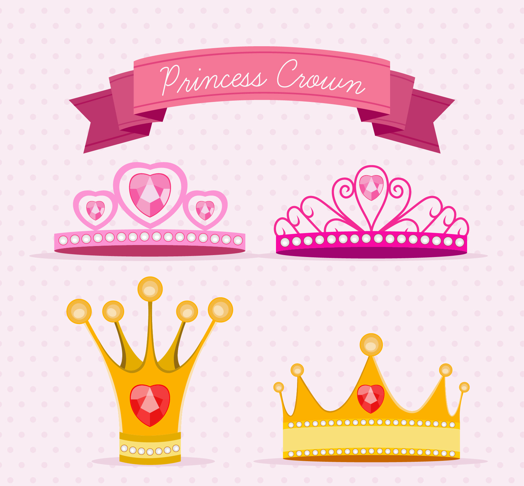 Princess Crowns Vector