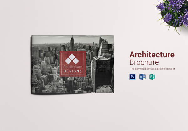 Printable Architecture Brochure Landscape Template