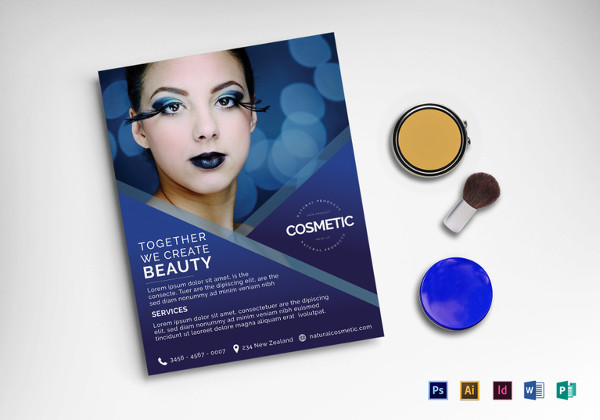 printable cosmetic flyer template