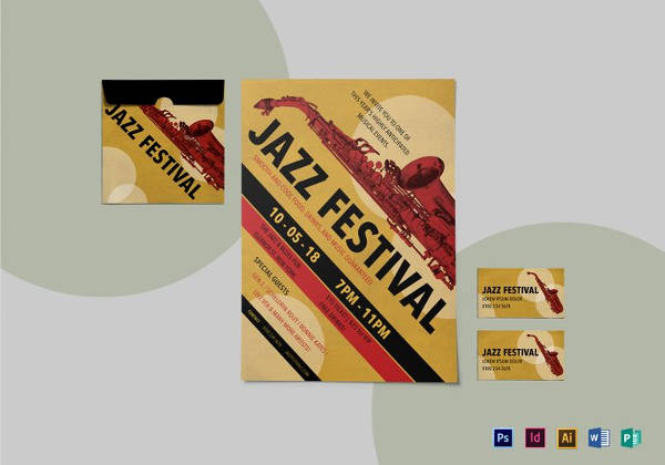 Printable Jazz Festival Flyer Template