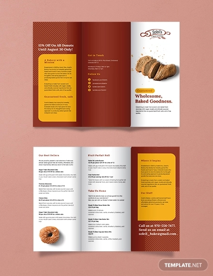 product tri fold brochure template