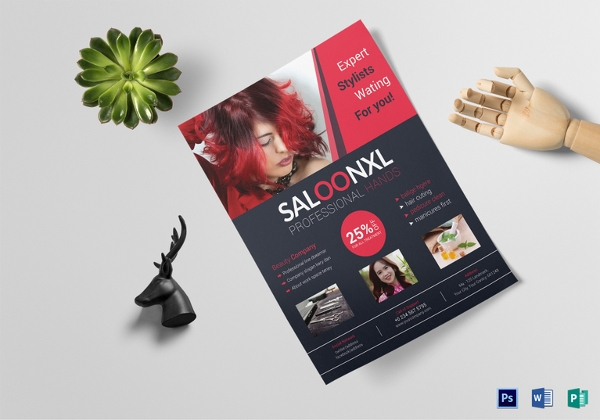 professional beauty salon flyer template