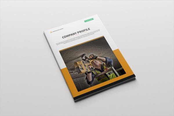 Professional Brochure Construction Company Design