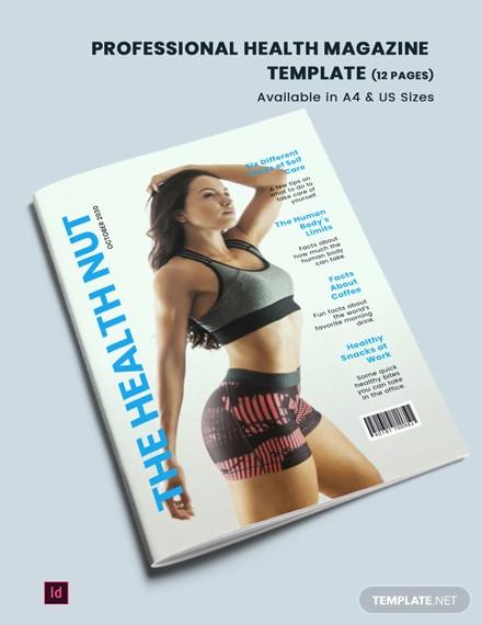 professional health magazine template