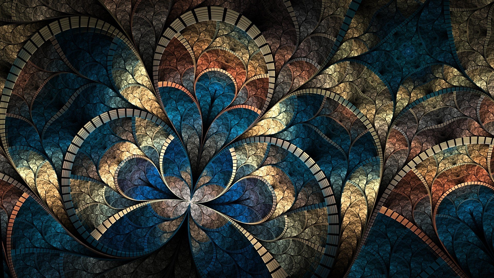 Psychedelic Abstract Art Background