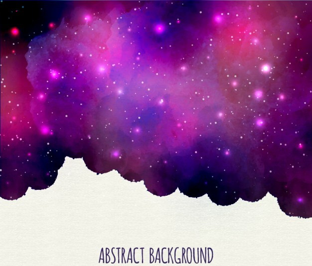 Purple Nebula background with Watercolor Effect