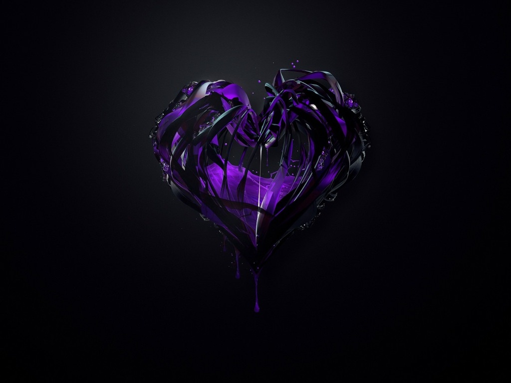 Purple Plexus Heart Wallpaper
