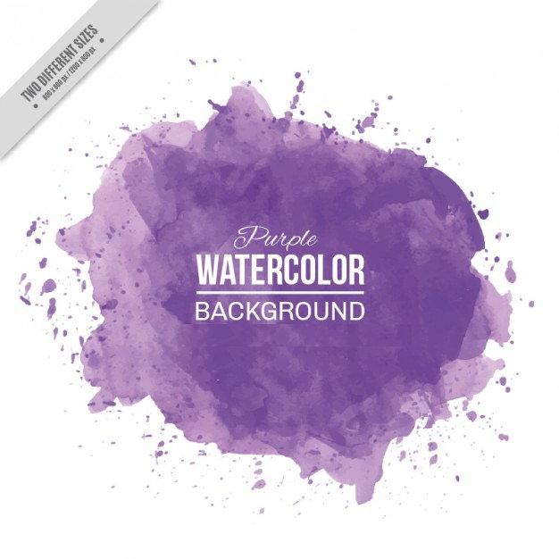 Purple Watercolor Splashes Background